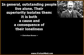 in general outstanding people live alone their com