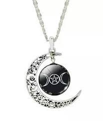 triple dess moon necklace