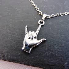 horns pendant silver chain