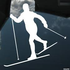 Decal Skier Rides On The Track Winter Sports Buy Vinyl Decals For Car Or Interior Decal Factory Stickerpro Different Colors And Sizes Is Avalable Free World Wide Delivery