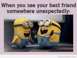 minions best friends funny cartoon image quote