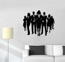 Vinyl Wall Decal Office Center Teamwork Dress Code Office Workers Empl Wallstickers4you