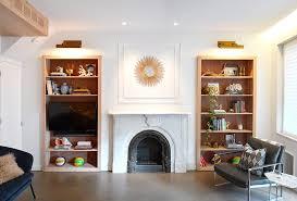 bookshelf design ideas wood lined
