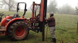 Hydraulic Fence Post Driver Youtube