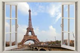 3d Eiffel Tower Paris Window Wall Sticker France Wall Decal Art Home Mural Decor Ebay