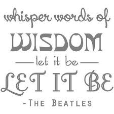 Vinyl Wall Decal Let It Be Beatles Music Decal Song Lyrics Sticker 20 X20 Bb6 Walmart Com Walmart Com