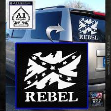 Rebel Confederate Flag Vr Decal Sticker A1 Decals