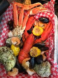 Seafood-Lobster, crab legs, oysters ...