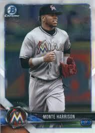 Amazon.com: Baseball MLB 2018 Bowman Chrome Prospects #BCP238 Monte Harrison  Marlins: Collectibles & Fine Art