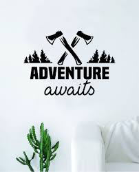 Adventure Awaits V11 Quote Wall Decal Sticker Home Decor Vinyl Art Bed Boop Decals