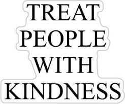 Treat People With Kindness Black Size Buy Online In Guernsey At Desertcart