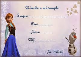Tarjetas De Cumpleanos Con Frozen Invitaciones De Frozen