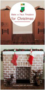 diy faux fireplace mantle made from