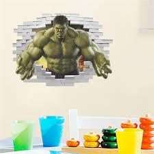 Cartoon Avenger Hulk Wall Sticker For Kids Rooms Decals Boys Bedroom Decor Kids Room Decor Children Gifts Chritmas Decoration Wall Stickers Aliexpress