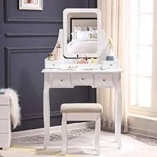 amazon unihome vanity table white