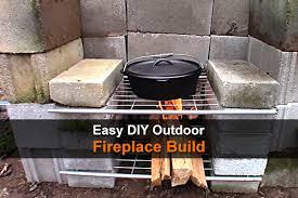 easy diy outdoor fireplace homestead