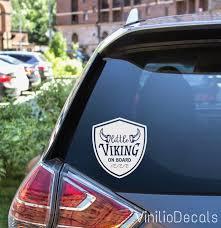 Car Decals Viking Decal Minnesota Vikings Decal Baby On Board Decal Vikings Fans Baby On Board