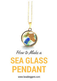 see through sea glass necklace