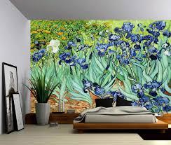 Irises Vincent Van Gogh Self Adhesive Vinyl Wallpaper Peel Stick Fabric Wall Decal Picture Sensations