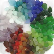 the colors of sea glass where do they