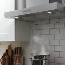 wall mount range hood with led light