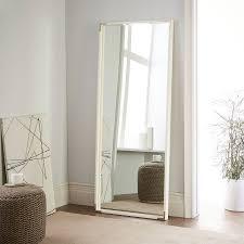 malone campaign floor mirror white