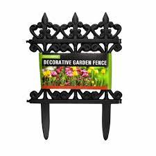 Shop Plastic Decorative Garden Fence Landscape Edging Border Spike Fence Section Overstock 29341942