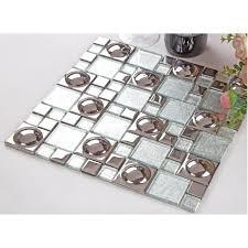 silver plated porcelain mosaic tile