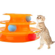 Đồ Chơi Cho Mèo Thú Cưng Đào Tạo Tấm Giải Trí Tháp Đĩa Rãnh Ba ...