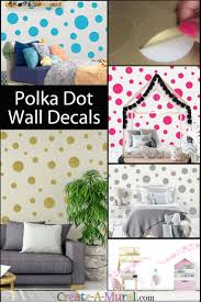 Teal Polka Dot Wall Stickers Circle Wall Decals For Kids Room Walls