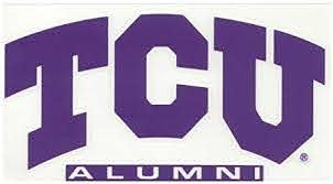 Amazon Com Colorshock Tcu Horned Frogs Decal Arched Tcu Over Alumni Sports Fan Automotive Decals Sports Outdoors