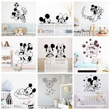 Large Mickey Mouse Wall Stickers Minnie Mouse Decals For Kids Room Decor Sticker Poster Baby Room Wallpaper Mural Buy At The Price Of 1 49 In Aliexpress Com Imall Com