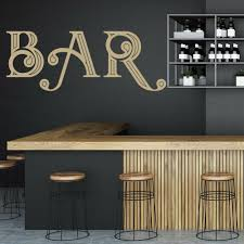 Hot Promo 077851 Bar Kitchen Wall Decal Words Art Lettering Interior Decor Door Window Vinyl Stickers Removable Creative Single Color Mural Q023 Cicig Co