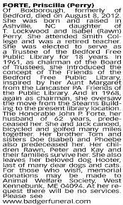 Priscilla Perry Forte obituary* - Newspapers.com