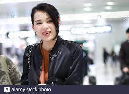 Hong Kong actress and singer Myolie Wu shows up at Shanghai airport before  departure in Shanghai, China, 7 November 2019 Stock Photo - Alamy