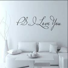58 15cm Ps I Love You Wall Art Decal Home Decor Famous Inspirational Quotes Living Room Bedroom Removable Wall Stickers 8017 Leather Bag