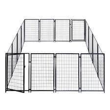 Aleko 10 Ft H X 10 Ft W X 4 Ft H Kennel Heavy Duty Pet Playpen Foot Dog Exercise Pen Cat Fence Run Chicken Coop Hens House 2dk5x5x4sq Hd The Home Depot