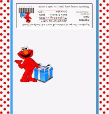 Etiqueta Para Chocolates Para Fiestas De Elmo Para Imprimir