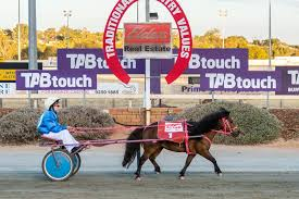 Adeline Roberts crossing the line in... - Northam Harness Racing ...