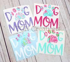 Dog Mom Car Decal 3 Etsy