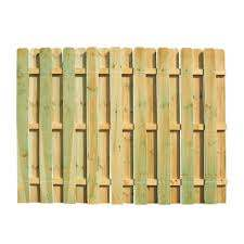Unbranded 6 Ft H X 8 Ft W Pressure Treated Pine Shadowbox Fence Panel 118830 The Home Depot