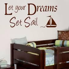 Large Quote Let Your Dreams Set Sail Wall Sticker Decal Matt Cut Vinyl 230707941812 2 Bespoke Graphics