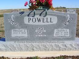 Phyllis J. and Glenn Ivan Powell, Devol Cemetery, Tillman County, OK