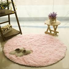 Round Rug Carpets For Living Room Faux Fur Carpet Kids Room Long Plush Rugs Ebay