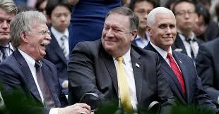 Resultado de imagen para Pence, Tillerson,Bolton y Pompeo