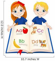 Two Kids And Abc Wall Decal Wallmonkeys Com