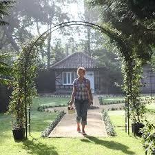 roman garden arch from garden