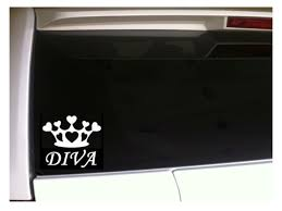 Diva Crown Car Decal 6 C49 Vinyl Funny Sticker Tiara Spoiled Heart Princess For Sale Online