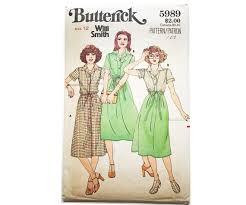 Size 12 Vintage Butterick Pattern 5989 Misses' Dress | Etsy