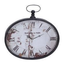 paris antique metal wall clock